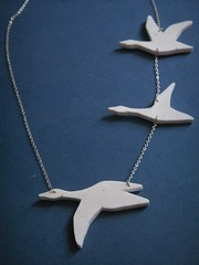 Recycled Migration Necklace on Silver (bbel-uk) Tags: silver necklace jewelry jewellery bbel