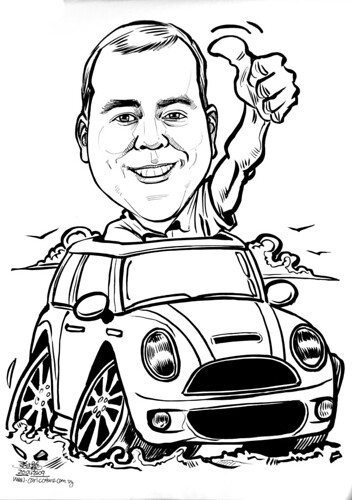 Caricature for Jones Lang Lasalle Mini Cooper