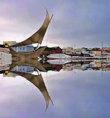 Stykkishlmur (Js) Tags: port reflections harbor iceland dock village harbour stykkishlmur orp nikond90