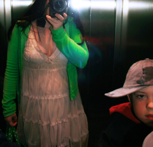 In the elevator