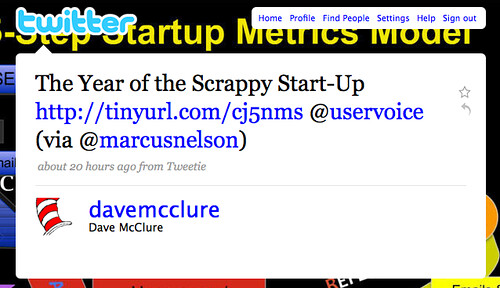 Daves Tweet about scrappy startups