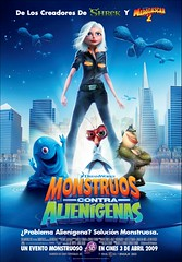 Póster Monstruos contra alienígenas (Monsters vs aliens)