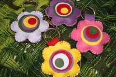 Chaveiro de felro (marcelle_dionisi) Tags: flor feltro chaveiro