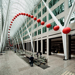 Long Wave (wvs) Tags: red toronto ontario canada art festival can installation redball brookfield bce longwave allenlambertgalleria davidrokeby luminato brookfieldplace
