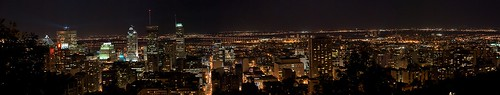 Very large Panorama of Montreal At Night From Mont-Royal