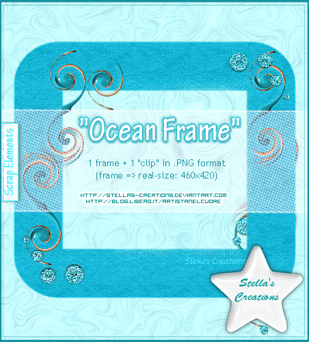 Ocean Frame - © Blog Stella's Creations: http://sc-artistanelcuore.blogspot.com
