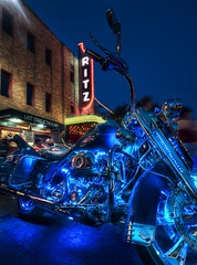 The ROT Biker Rally (Stuck in Customs) Tags: cruise blue light horse usa rot art colors leather bike electric modern austin amazing cool nice intense neon artist glow texas image steel awesome rally great wheels dream picture gear pride harley chrome experience cycle harleydavidson motorcycle ritz biker top100 tunes process fest alamo hog magical effect rider trey hob laststand midlifecrisis rotrally bikerrally rotbikerrally d3x rottexas rotaustin