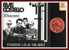 "Elvis Costello and the Attractions ""Everyday I Play the Boot"" Live Vinyl Bootleg lp"