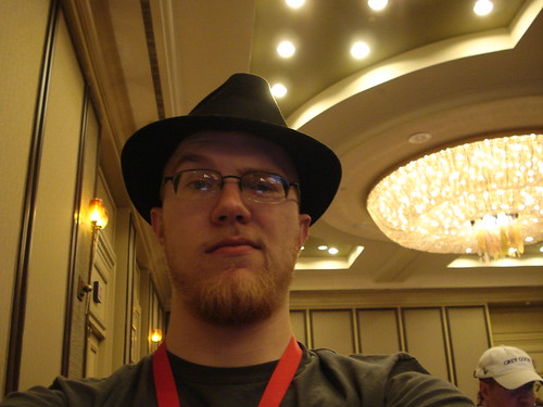 Hyatt Ceiling Pastry and Me in My Hat