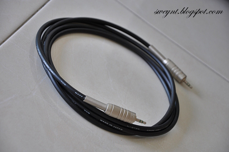 sweynt eacute ordf aring frac plusmn eacute uml egrave frac altec lansing atp modify this is my diy cable to replace the stock cable the material that i get from jalan pasar i bought 2m of canare cable l 2t2s and 2 of canare 3 5mm