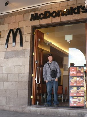 This tourist paid the same for a Big Mac and North American fries as he would have a local food in a fine seated restaurant