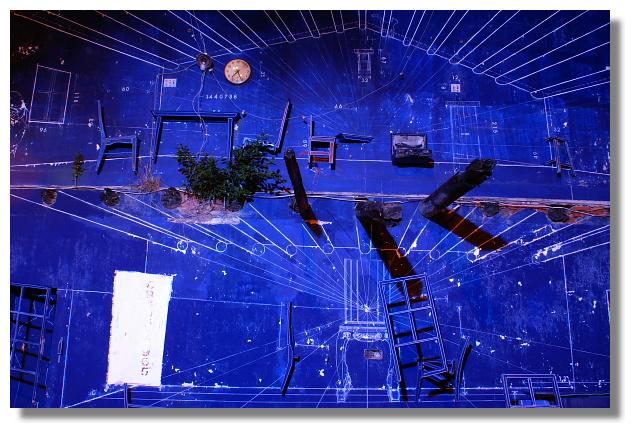 海安路藝術街上的藍晒圖