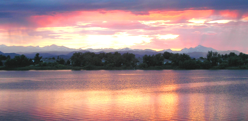 Sunset at Waneka Lake