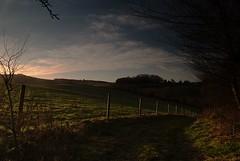 Back Home for Tea (PeteTakesPictures) Tags: sunset england landscape nikon solitude path farm kitlens farmland hills devon exeter pastoral rolling rollinghills magichour weston devonshire ides arable d40 westonfarm greenandpleasantland d40x
