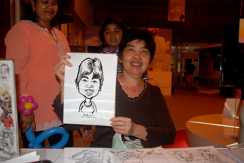 caricature live sketching for LG Infinia Roadshow - day 2 -9