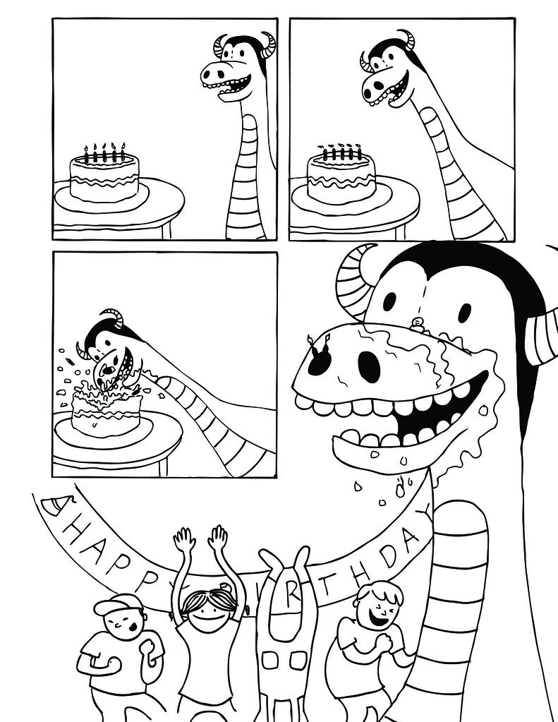 Birthday Dragon Page Two