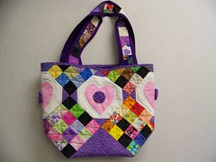 Laura's lotto block bag