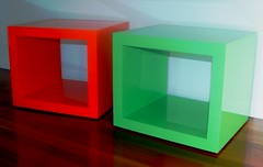 Two-pack painted 58mm X-Board Plus furniture cubes