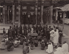Buddhist Priests Worshipping Tooth (Museum of Photographic Arts Collections) Tags: tooth holy srilanka kandy toothtemple museumofphotographicarts