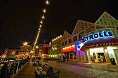 Night Life On The Boardwalk (Jeff.Hamm.Photography) Tags: night photoshop orlando epcot nikon florida sigma disney boardwalk fl wdw waltdisneyworld 1020mm resorts lightroom uwa cs3 d90 jellyrolls f456 colorefex niksoftware dishippy