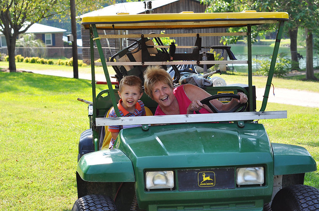with aunt bonnie in the gator