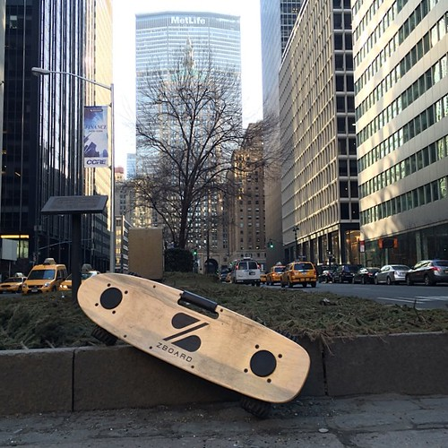 Beautiful day to bring out my #ZBoard and ride around the city! #nyc #parkave #unitednations #EV #electricpowered