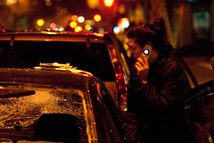 Car Owner on Cell Phone After Car Vandalized, Oakland Riots (Thomas Hawk) Tags: california usa america oakland riot unitedstates unitedstatesofamerica protest bart eastbay riots downtownoakland bartpolice oscargrant oaklandriot oaklandriot2009 oaklandriots2009 oscargrantriots oaklandriots