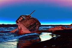 Camaronero encallado en el apocalipsis / Wreck in apocalypse (Brujo+) Tags: sonora mxico boat rocks barco gimp shipwreck psychedelic wreck picturesque hermosillo piedras psicodlico encallado playasannicols naufracio