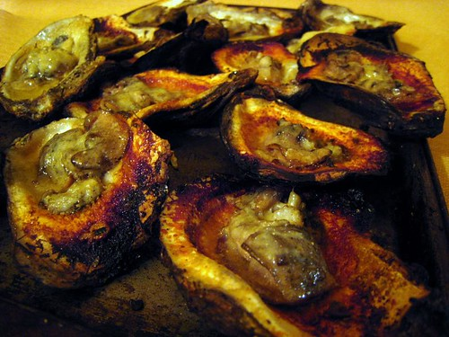 Charbroiled oysters