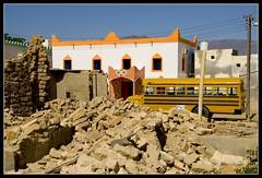 Oman Mirbat397 (jjay69) Tags: town village gulf muslim islam ruin middleeast arabic schoolbus oman hamlet rubble demolishedhouse gcc islamic arabi sultanateofoman dhofar mirbat dhofarregion muslimcountry battleofmirbat lpsidestreets2 marbat