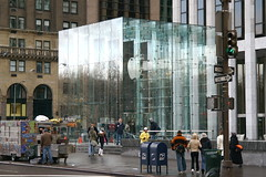 NYC's Apple Store (Greg Adams Photography) Tags: nyc newyorkcity travel winter newyork building apple glass architecture modern shopping store cool 5thavenue applestore 2008 bigapple hhsc2000 ilovethebuilding