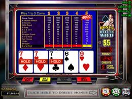 No downloadable Bonus Deuces Wild Online Slot
