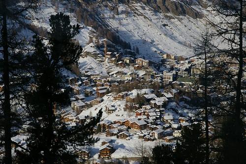 群山中的Zermatt