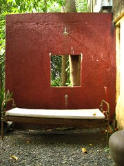 outdoor shower and bed?