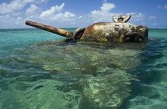 Saipan Tank (Saipan_Jack) Tags: ocean rust war tank pacific worldwarii worldwar2 relic saipan