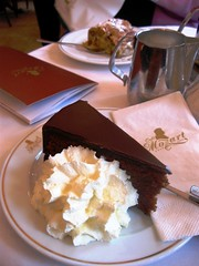 Vienna Treat, Go Ahead Take a Bite of Sachertorte and Enjoy your Life! (moonjazz) Tags: vienna food cake dessert cuisine austria cafe europe yum chocolate napkin fat famous cream plate tourist best sugar delicious delight slice chef fancy bite treat tradition mozart pleasure consume finest frosting supreme sachertorte wein torte serve whipped calories sacher indulge studel flickrlovers soccertorte