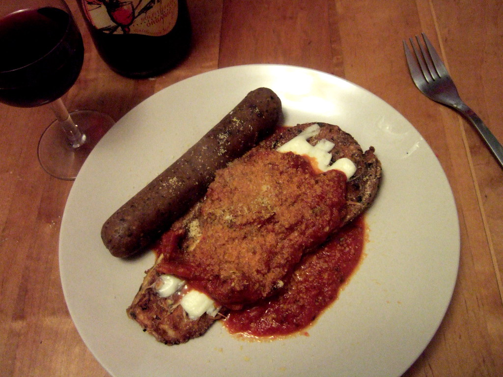 Crusted Eggplant w/ Tofurkey Italiano
