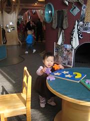 Aki doing puzzles