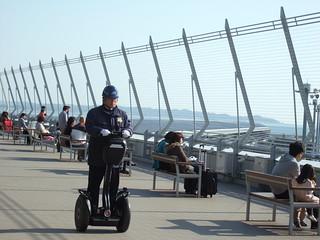 《日本中部空港》騎賽格威(segway)的 security @ 2009-02-15