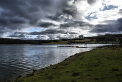 Wimbleball lake storm clouds (JECB Photography) Tags: trees lake reflection water grass clouds boats sailing fields wimbleball