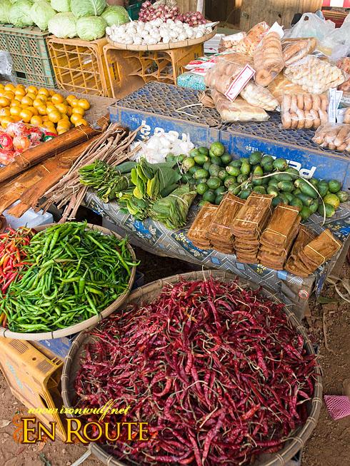 Laos Pakse MArket Goods
