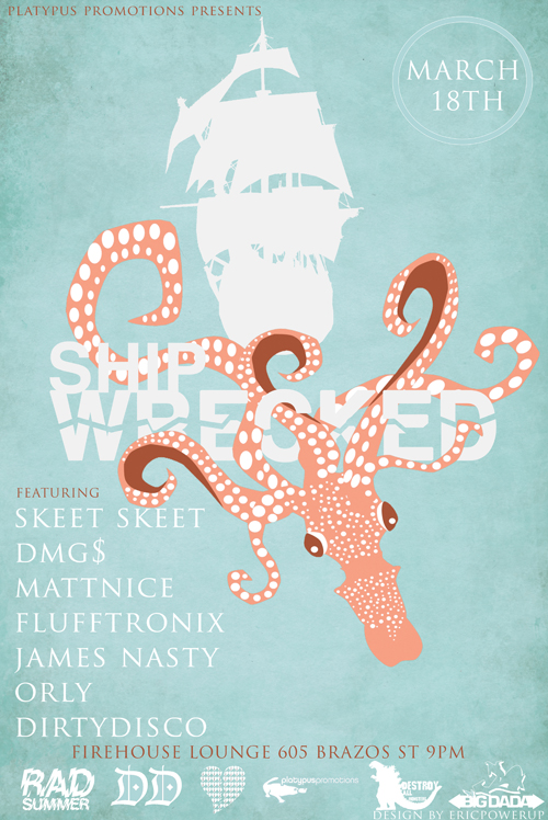 poster design: Shipwrecked