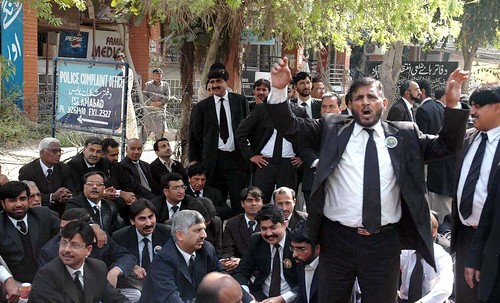 Lawyers Protesting