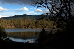 Evening Shadows -- Ewing Reservoir (Beyond the Trail [Gary]) Tags: california sunset trinitycounty hayfork garytrinity ewingreservoir