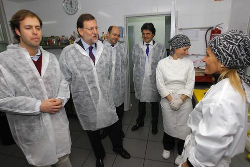 Mariano Rajoy con jóvenes empresarios
