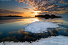 Departure of the lonely ice raft (Rob Orthen) Tags: sea sky ice sunrise suomi finland landscape dawn helsinki nikon rocks europe scenic rob tokina 09 lee scandinavia meri maisema vesi pinta d300 jää kevät gnd 1116 kallahti nohdr orthen iceraft roborthenphotography tokina1116 tokina1116mm28 seafinland