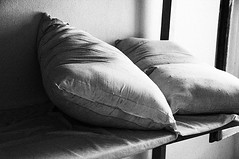 The rest (Paterdimakis) Tags: bw white black nikon pillow negre d300 bedd 123bw