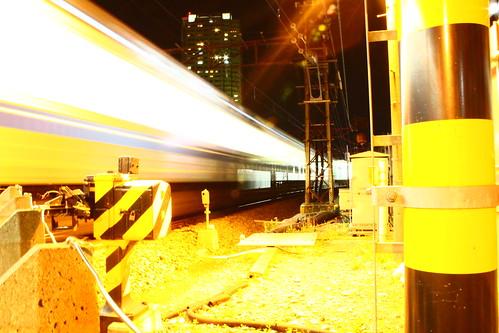 西武有楽町線 銀色電車 終端 踏切