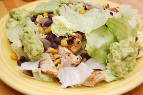 taco salad with guac