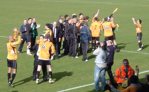 Dumbarton players celebrate